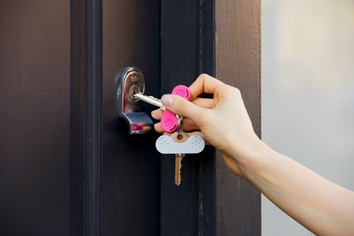 A gadget called a Keywig to help hold house door keys.