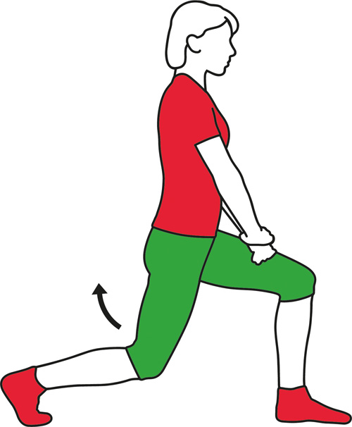 Deep lunge exercise for the back.