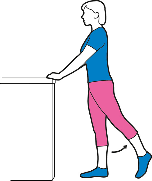 Hip extension exercise for the hips.
