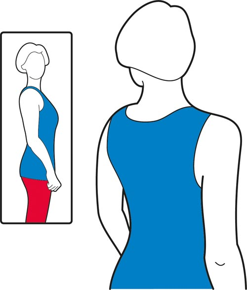 Posture check exercise for the shoulders.