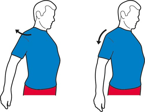 A shoulder stretch exercise for the shoulders.